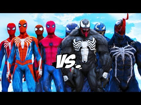 TEAM SPIDERMAN VS TEAM VENOM - EPIC BATTLE