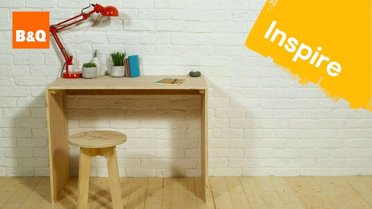 Create a plywood desk