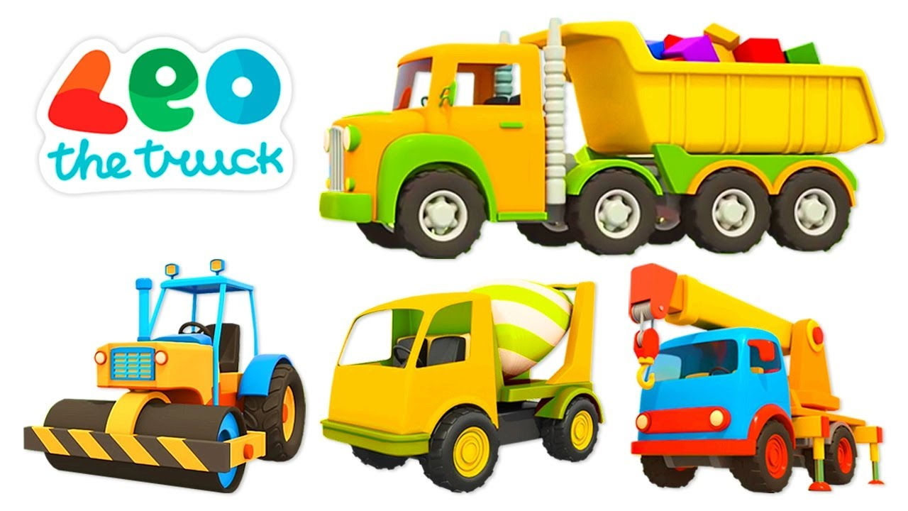 Car cartoon for kids & Leo the Truck – Street vehicles and construction vehicles for kids.