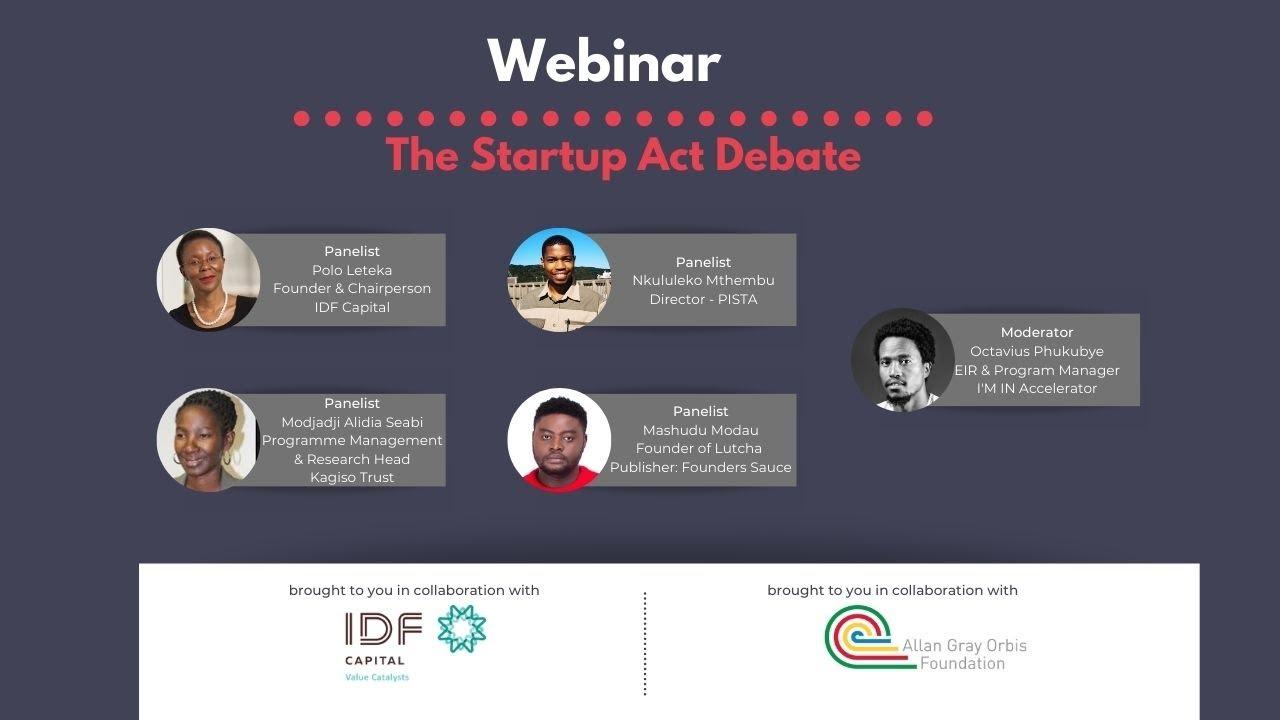 I'M IN Accelerator Startup Act Debate Webinar