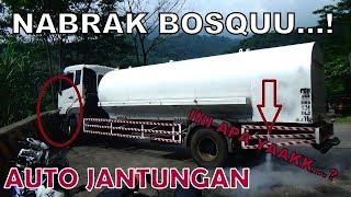 Live...Detik detik Truck Muatan Zat Kimia Nabrak Pembatas jalan di sitinjau lauik
