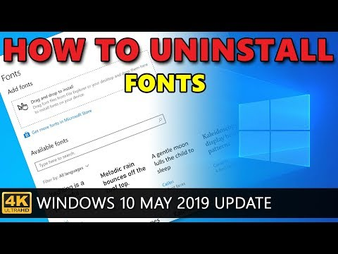 Windows 10: How to uninstall font  - YouTube