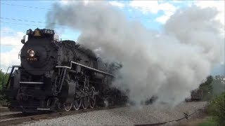 NKP 765 on the W&LE Nickel Plate Steam Locomotive Ferry Move o…