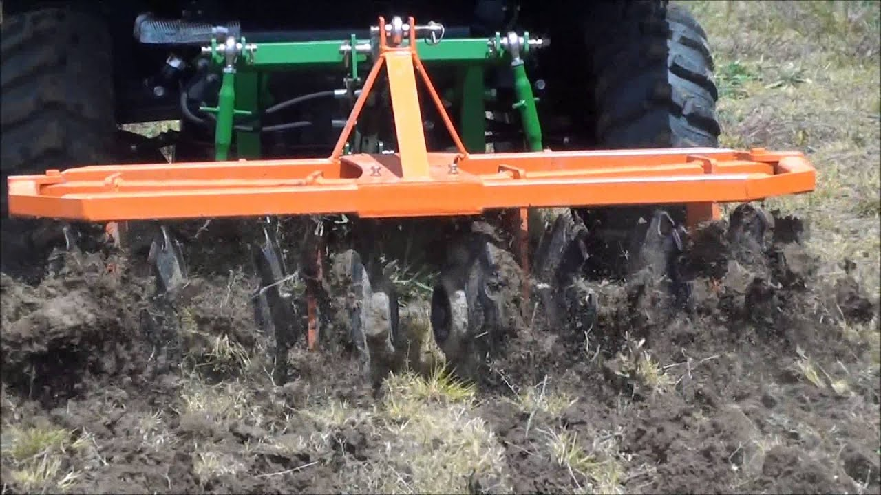John Deere Utv >> UTV Hitchworks - 2 Gang Disc Harrow on a John Deere Gator 825i - YouTube