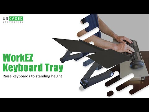 WorkEZ Keyboard Tray Introduction an Ergonomic Adjustable Height & Angle Computer Keyboard Stand