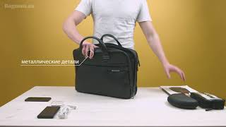 "96bea99479df Обзор сумки для ноутбука Samsonite Formalite LTH Bailhandle L 15,6"" Black"