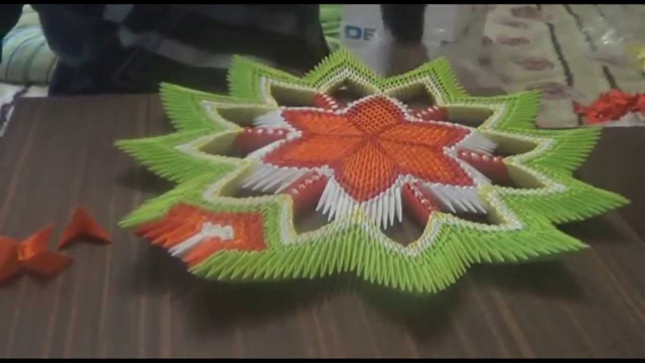 схема изготовления модульного оригами лилии