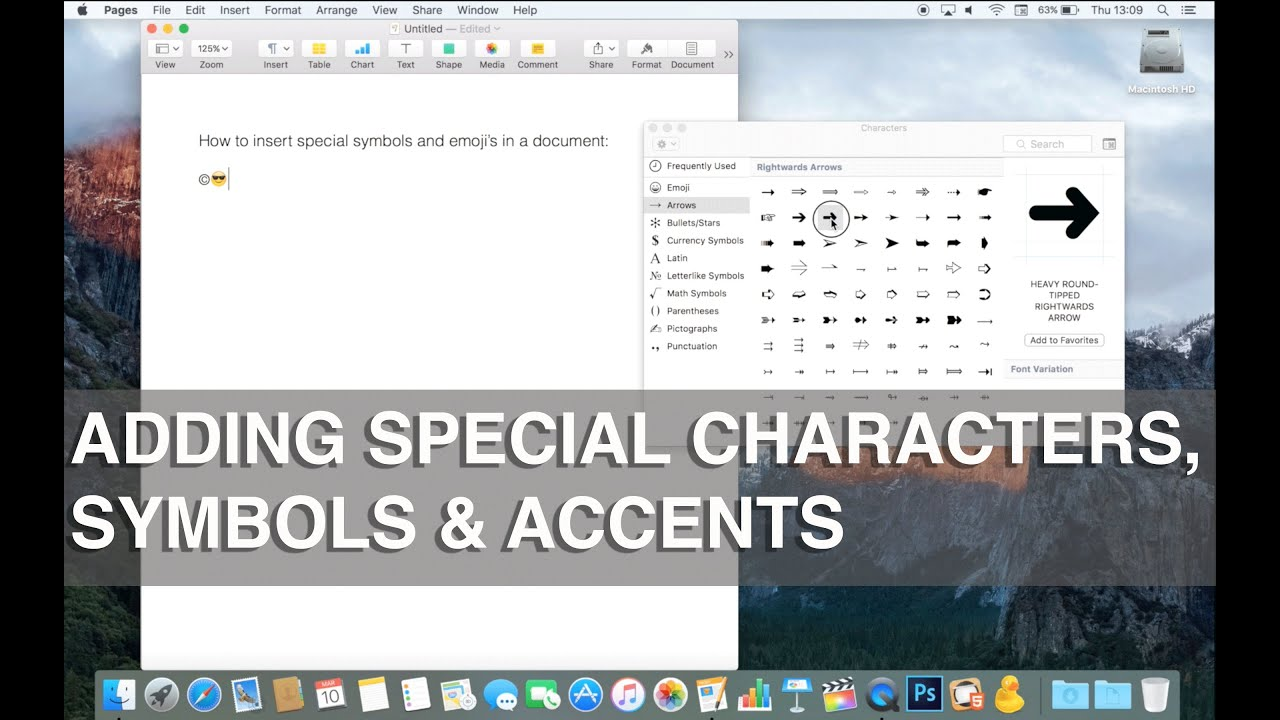 How to use special characters, symbols, emojis and accents on Mac - Apple  Training