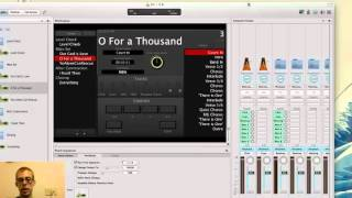 Mainstage  - How to Set up Click and Backing Tracks in Worship