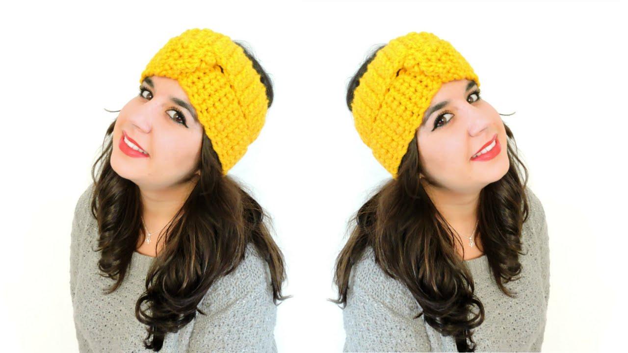 Turbante de ganchillo - How to make crochet turban - YouTube