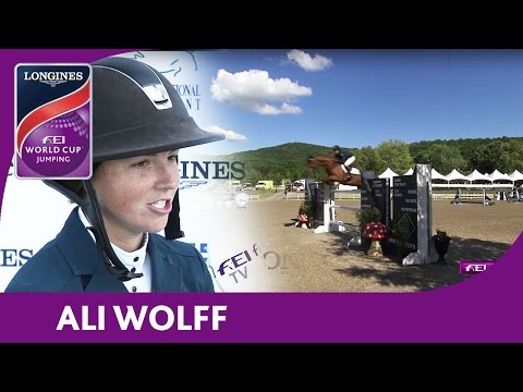 2nd: Ali Wolff | Longines FEI World Cup™ Jumping 2016/17 | Bromont (CAN)