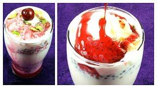 How to make Falooda Recipe | Rose Milk Ice Cream Sabja Seeds Faluda | Ramzan Dessert| Delicious Food