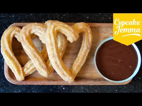 How to Make Churros and Chocolate (and it's almost VEGAN!) | Cupcake Jemma