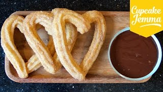 How to Make Churros and Chocolate (and it's almost VEGAN!) | Cupcake Jemma thumbnail
