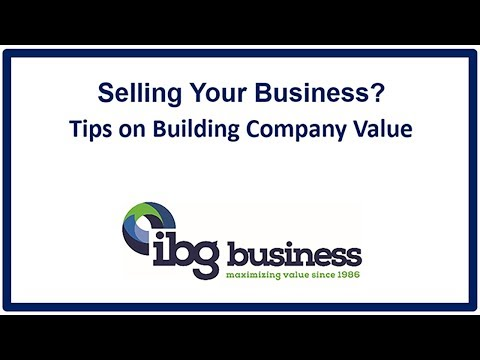 Building company value for selling a business