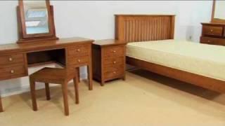 Bedroom Furniture - Aston Double Pedestal Dressing Table Set