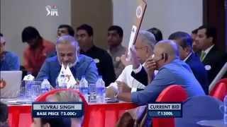 IPL Auction  2015 yuvraj singh