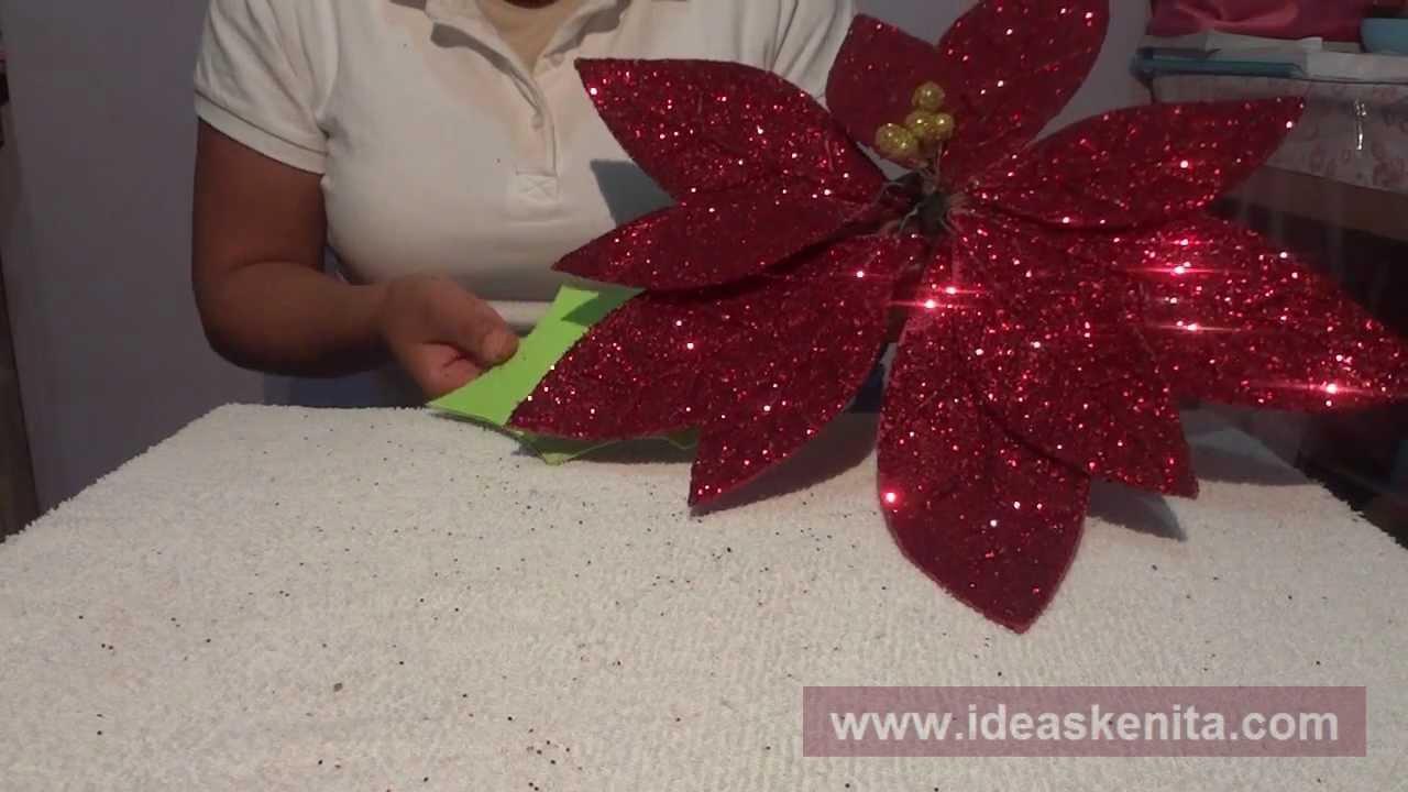 Episodio 11 flor de noche buena de fomi youtube for Adornos con plantas de nochebuena