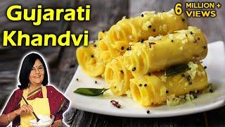 Repeat youtube video Gujarati Khandvi With Master Chef Tarla Dalal