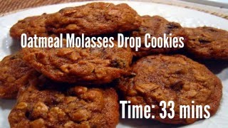 Oatmeal Molasses Drop Cookies Recipe