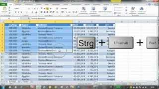 Excel 2010 - Tastenkombinationen - Teil 01
