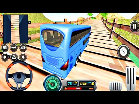 Uphill Offroad Bus Driving Simulator🚌💥 | New Crazy Uphill Bus Driving | Android IOS Gameplay