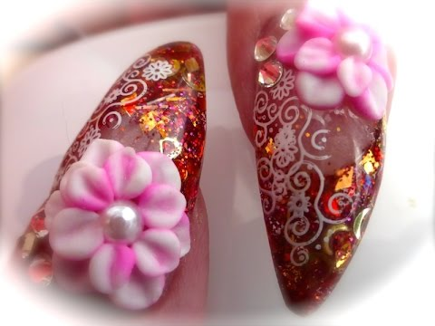 Flamenco gypsy organic nails 3d acrylic nail design youtube flamenco gypsy organic nails 3d acrylic nail design prinsesfo Choice Image