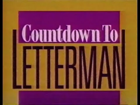 Countdown to Late Show w/David Letterman, July, August 1993