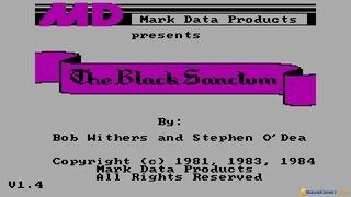 The Black Sanctum gameplay (PC Game, 1984)