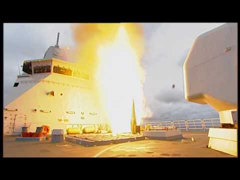 Dutch Navy HNLMS Tromp (F803) and HNLMS Van Speijk (F828) launch NSSM, ESSM, SM2 and Harpoon