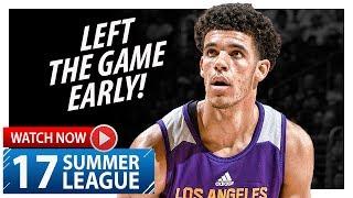 Lonzo Ball Full Highlights vs Mavericks (2017.07.16) Summer League - 16 Pts, 10 Ast, Injured? thumbnail