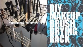 Makeup Brush Drying Rack - Easy Diy