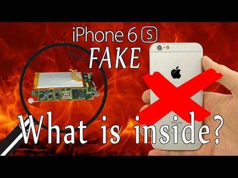 Fake iPhone 6s - What is inside? Is it dangerous? [4K]
