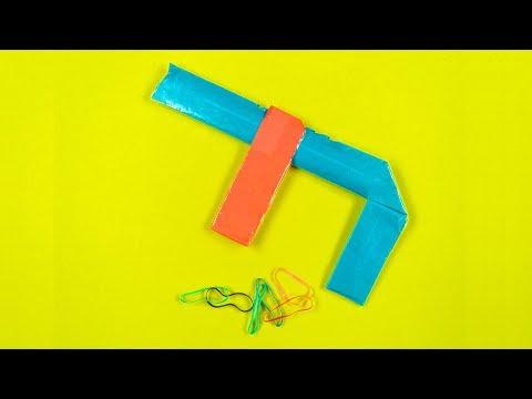 How to make a paper gun - Rubber band gun 7 SHOOTS - Easy Paper Gun Tutorials