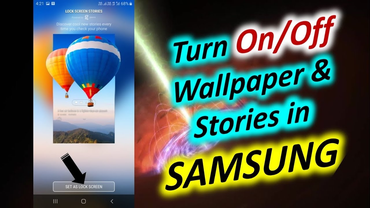 Turn On Off Wallpaper Stories In Samsung Device Youtube