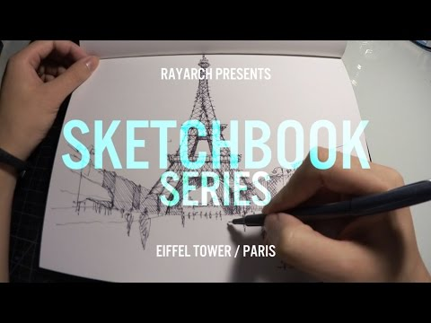 ARCHITECTURAL SKETCH of EIFFEL TOWER - PARIS   Sketchbook Series