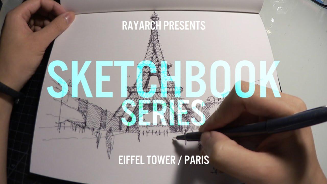 Architectural Sketch Of The Eiffel Tower Paris Math Wallpaper Golden Find Free HD for Desktop [pastnedes.tk]