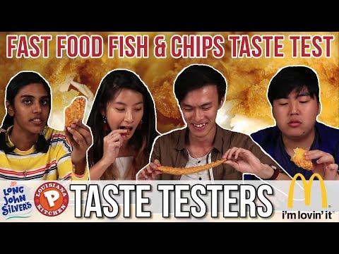 FAST FOOD FISH & CHIPS TASTE TEST   Taste Testers   EP 47