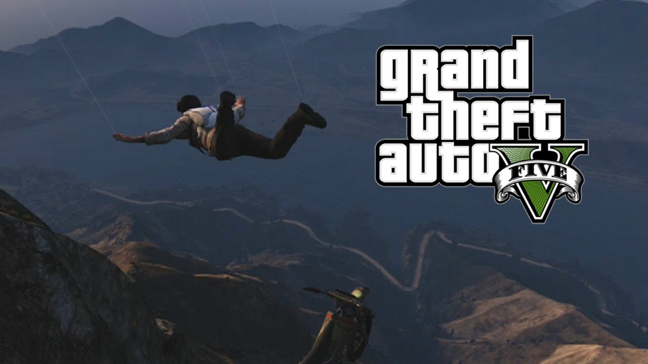 GTA 5 - Skydiving off Mount Chiliad - YouTube
