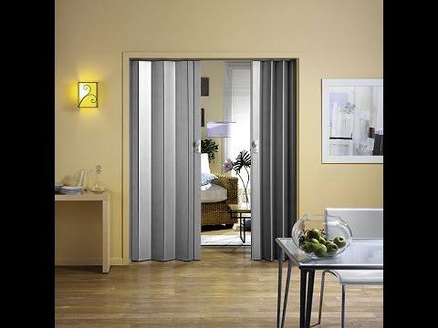 Дверь-гармошка в интерьере. Как согласовать со стилем