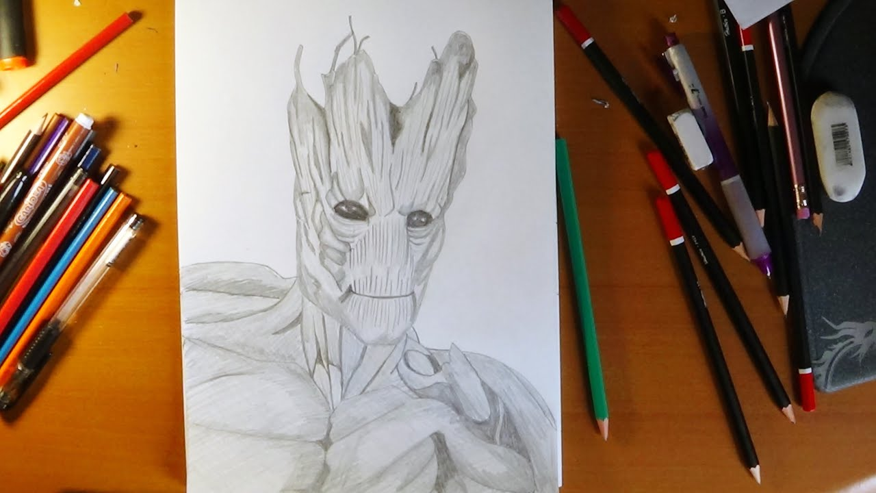 How To Draw Guardians Of The Galaxy Groot