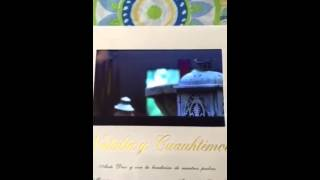 Invitación de boda cuauhtemoc blanco ( ipad wedding invitation en ingles jajajajaj)