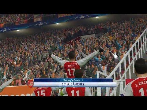 PES 2016 UEFA Champions League (Arsenal vs FC Bayern Munich Gameplay)