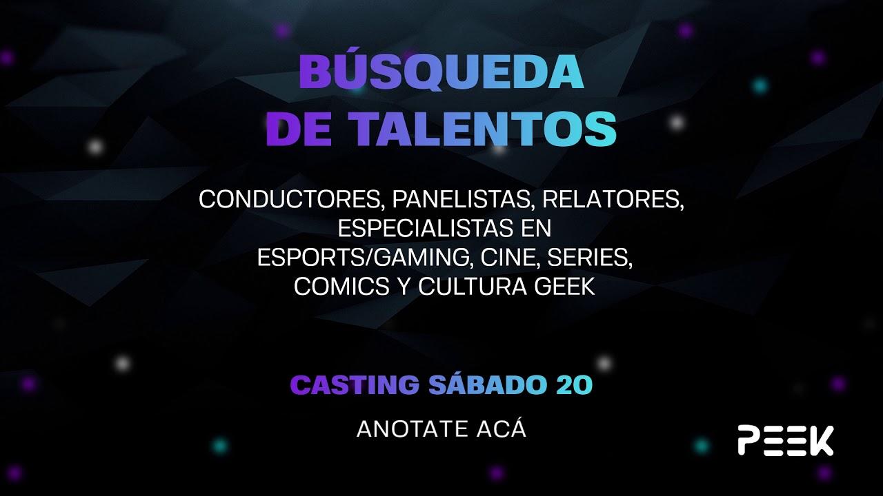 Casting Talentos Peek 2021