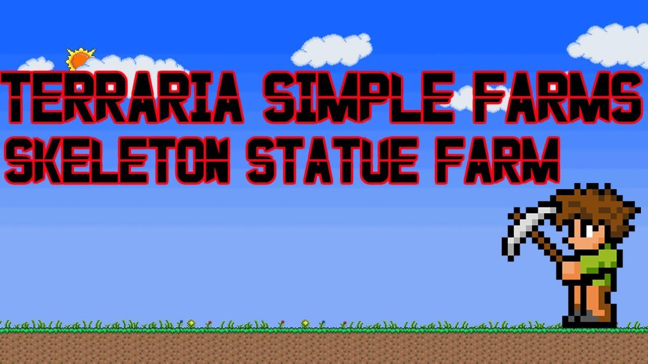 Terraria Skeleton Statue Wiring Heart Statues Simple Farms Farm Youtube 1280x720