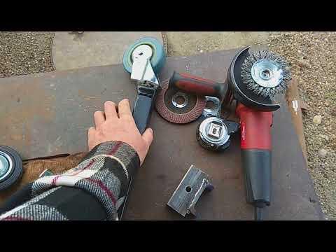 Как самостоятельно изготовить опорное колесо к прицепу