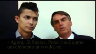 Jair Bolsonaro desafia Jô Soares