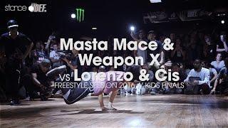 Masta Mace & Weapon X vs Lorenzo & Cis [Finał kids] // Freestyle Session