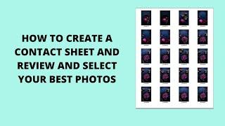 كيفية إنشاء ورقة الاتصال مع استعراض وحدد