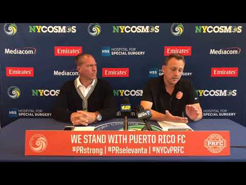 Puerto Rico Relief Press Conference - New York Cosmos & Puerto Rico FC
